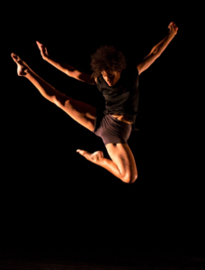 Dancer leaping into the air