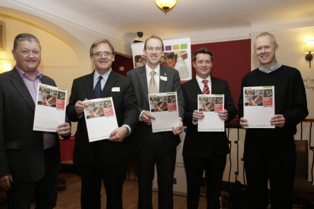 A photo of the launch event for Community Co-operatives in Wales