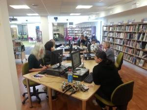 A busy Digital Day at Risca Library!