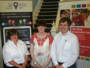 Katy, Rachel and Kevin - the Get NPT Online Outreach Team.