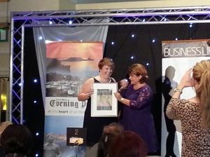 Natalie Reynolds, That Useful Company, recieves her Innovation in Business Award