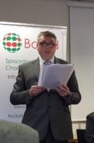 Joe Powell at the launch of Baroda