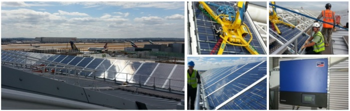 Dulas was involved in the solar PV installation at Heathrow Airport's Terminal 2 building
